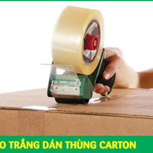 BĂNG KEO TRẮNG DÁN THÙNG CARTON GÓI HÀNG CHO SHOP